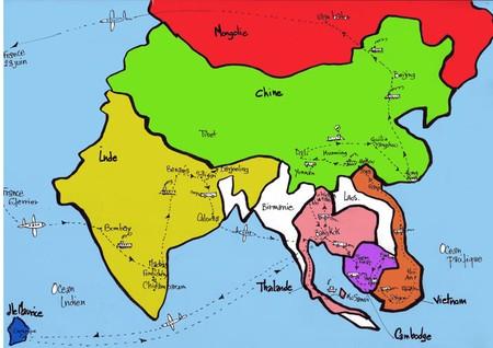 carte parcours en Asie