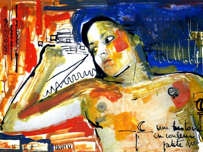 Acrylique sur photo A nue 4