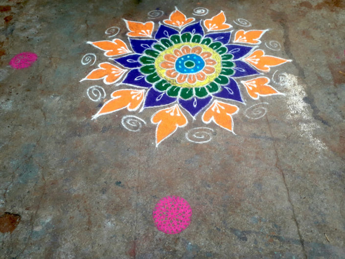 kolam, Hyderabad, Inde